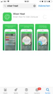 Wiser Heat App